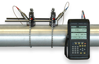 Measuring Hydraulic Oil with a PT878 Clamp-on Flow Meter